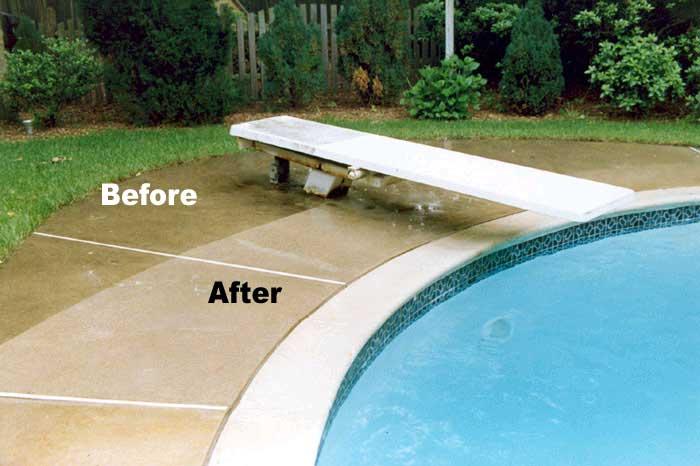Beau ... Pressure Cleaning Pool Decking 1 ...
